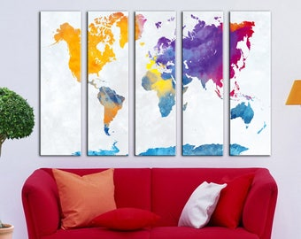 World map canvas Travel World map Canvas wall art Canvas Wall Art Canvas Print Wall decor Art Home decor world map canvas Travel world map