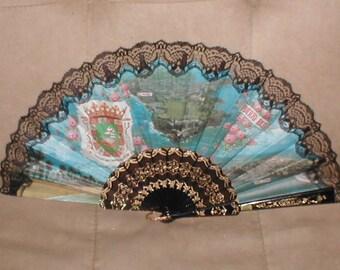 Vintage Souvenir Puerto Rico Folding Fan