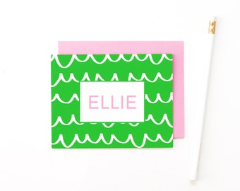 Personalized Stationary Kids Stationery Personalized Stationery Set Custom Note Cards Personalised Girls Stationary Monogrammed Stationery