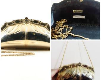 60s Metal Purse, Gold Tone, Couture, Luxury Brand, I Magnin, 1960s, Clutch, Evening Bag, Rare, Chain, Metal, Metallic, Vintage Purse