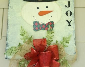 Joy Christmas Canvas Art