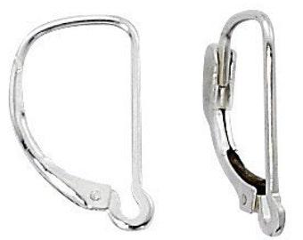 Lever Back Earrings Sterling Silver Interchangeable 3 Pair E-102