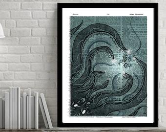 Kraken - Dictionary Art