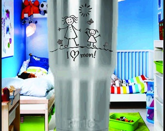 Childs Artwork - Laser Engraved RTIC Tumblers.