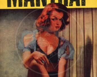 Mantrap - 10x17 Giclée Canvas Print of Vintage Pulp Paperback