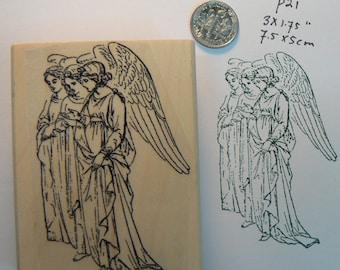 P21  Three  angels rubber stamp WM