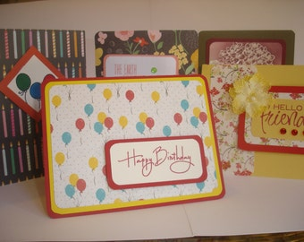 ASSORTED handmade greeting cards