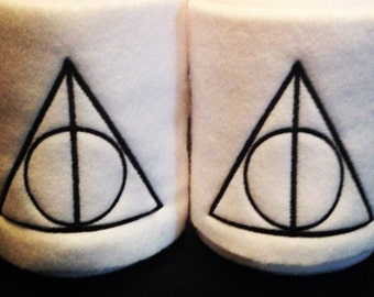 Deathly Hallows logo Embroidered Polo Wraps - Harry Potter