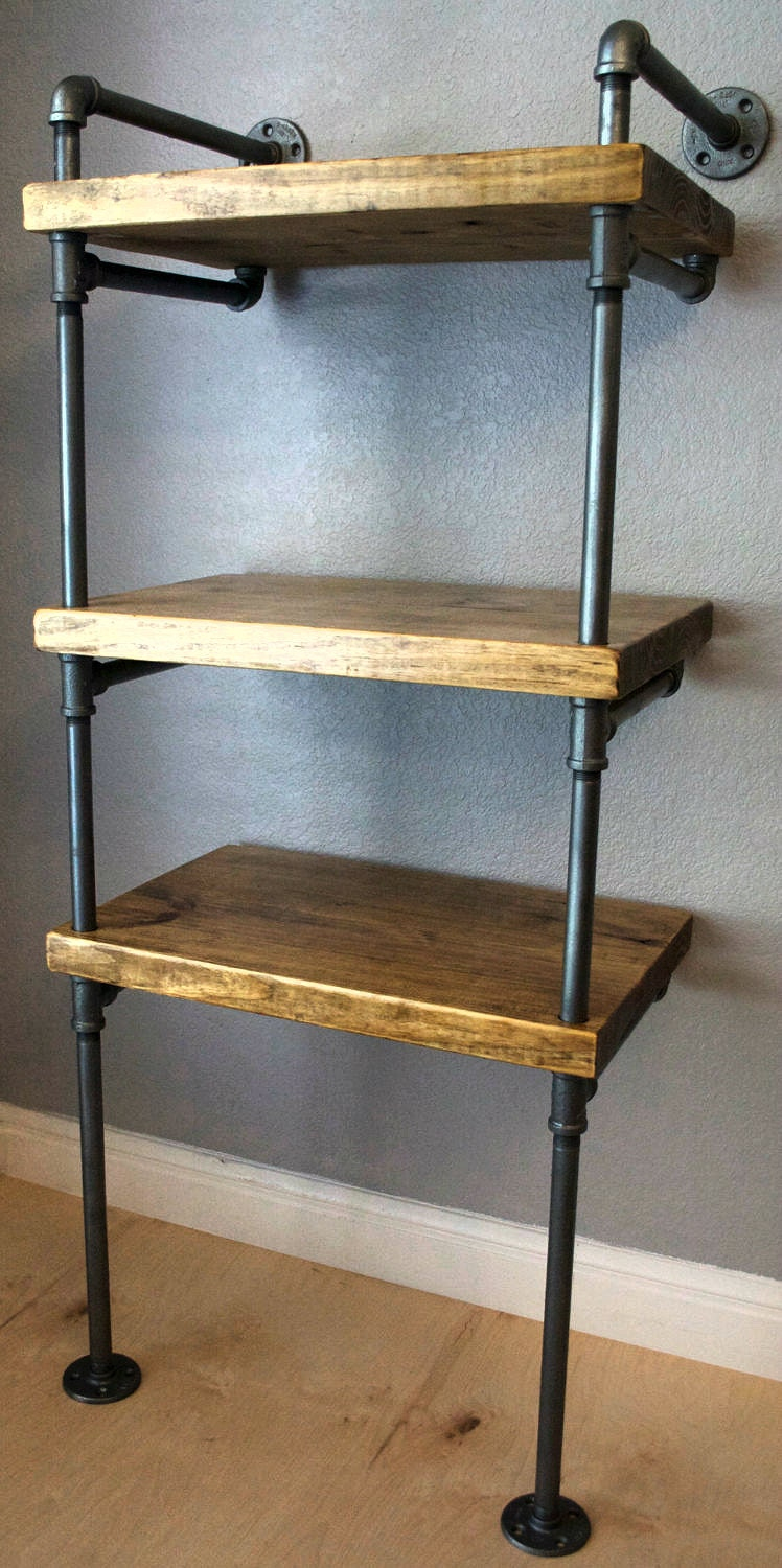 Industrial Media Stand Pipe Shelving Unit Media Storage
