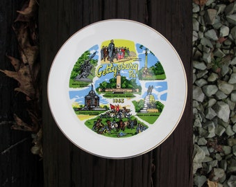 Souvenir Plate Gettysburg PA Pennsylvania Vintage Decorative Collectible