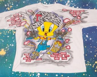 Looney Tunes TWEETY T-Shirt Size XXXL