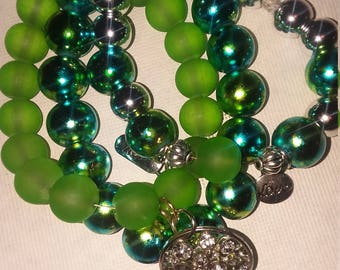 Charm Green Bracelet