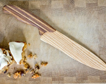 Wooden Cake Knife - Ash, Oak, Walnut -  Wooden Knife - Unique Knife - Wedding Cake Knife - Knife Wood - Kitchen Knife - Cake Cutting