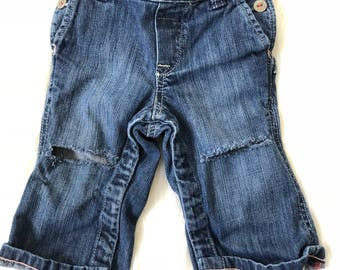 Ripped Baby Jeans Distressed Jeans 6-12 Months Infant Jeans Distressed Denim Toddler Jeans Acid Wash Jeans Trendy Baby Clothes