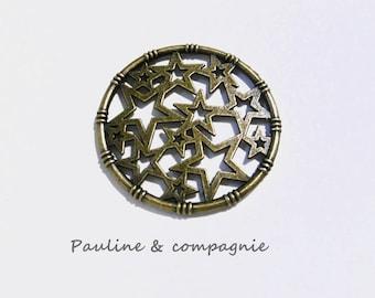 1 connector pattern bronze metal star