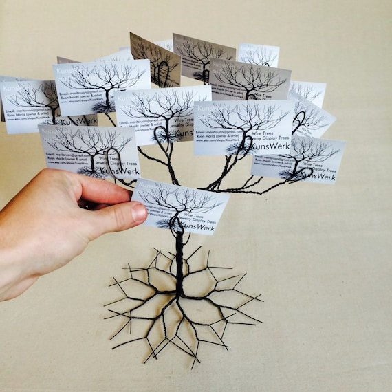 Wedding wishing tree business card holder display stand like this item colourmoves