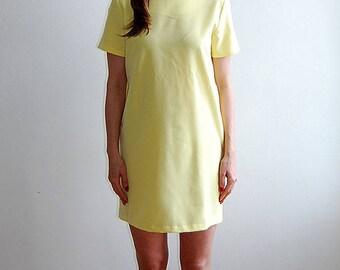 vintage 90's yellow mod mini dress