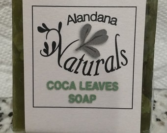 COCA LEAF Herbal SOAP Cold Process & Glycerin Hint of Ylang-Ylang n Patchouli Essential Oil