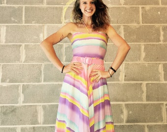 Vintage Foxy Lady pastel dress size 7/8