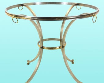 Brass and Brush Steel Maison Jansen Center Table
