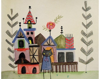 the Cat's House - print