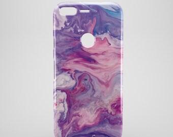 PURPLE inky Marble google pixel case, google pixel XL case, google Pixel phone Case, google pixel 2 case, google pixel XL 2 cases