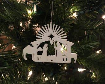 Nativity 101 Christmas Tree Ornament 3D-Printed