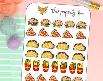fast food - planner sticker C017