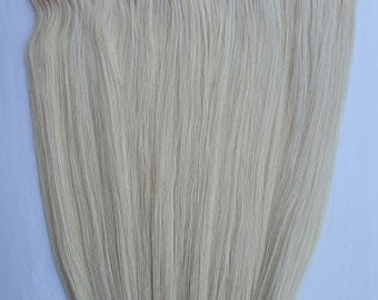 20inches 100% HALO Style Human Hair Extensions (ONE Piece No Clip) #613 Platinum Blonde (with Golden tinge)