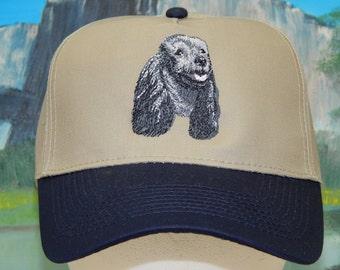 Black Poodle Cap