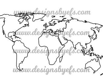 World map outline etsy world map outline globe outline svg dxf jpeg file gumiabroncs Choice Image