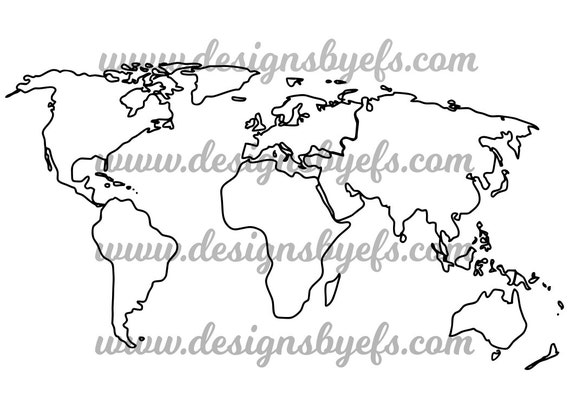 World map outline globe outline svg dxf jpeg file gumiabroncs Gallery