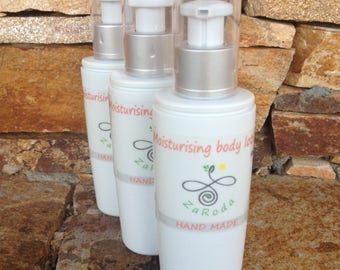 Moisturising Body Lotion with sheabutter, coconut oil, almond oil, geranium and lavender