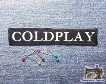 ColdPlay Patch - Glow In The Dark - White - Embroidered patch - Iron on Patch - Sew on Patch