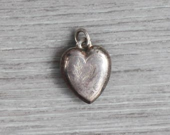 Silver Heart Charm Pendant