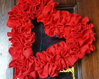 Heart Wreath, Heart, Valentine's Wreath, Valentine, Valentine's, Valentine's Day Wreath, Hearts, Valentine's Day, Valentine's Decor, Red