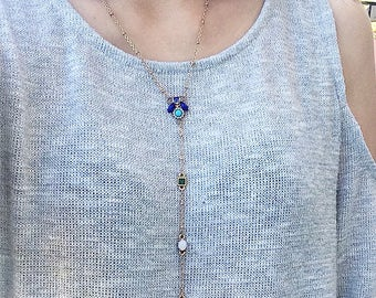 Antique Style Drop Necklace