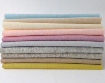 100 Percent Wool Felt Sheets - 10 pieces - vintage colours - 'Vintage Bea' collection