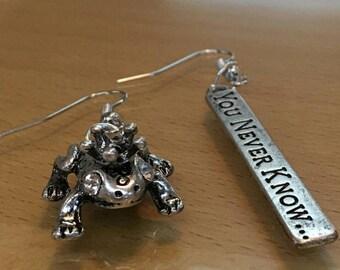 Frog prince dangle earrings