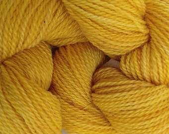 Merino Wool Yarn Lace Weight in Cab Yellow Hand Painted Hand Dyed