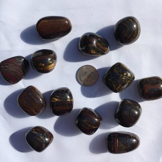 Beautiful Tumbled TIGER Iron Healing Gemstone// Tumbled Stones// Tumbled Tiger Iron// Healing Crystals//Healing Tools