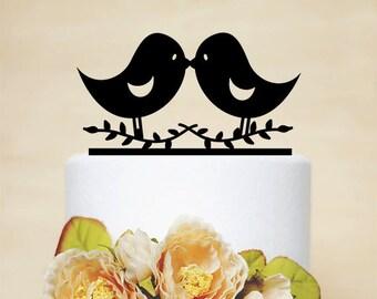Love Bird Topper,Wedding Cake Topper,Wedding Decor,Acylic Wedding Topper-P028