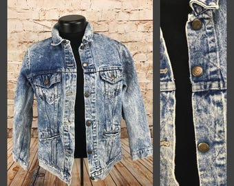 Vintage Men's Acid Washed Denim Jacket  Cascade Blues Jacket Stonewashed Jean Jacket Vintage Jean Jacket