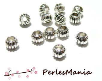 20 beads spacer rondelle STYLE pumpkin 5 by 6MM REF 117 old money, DIY