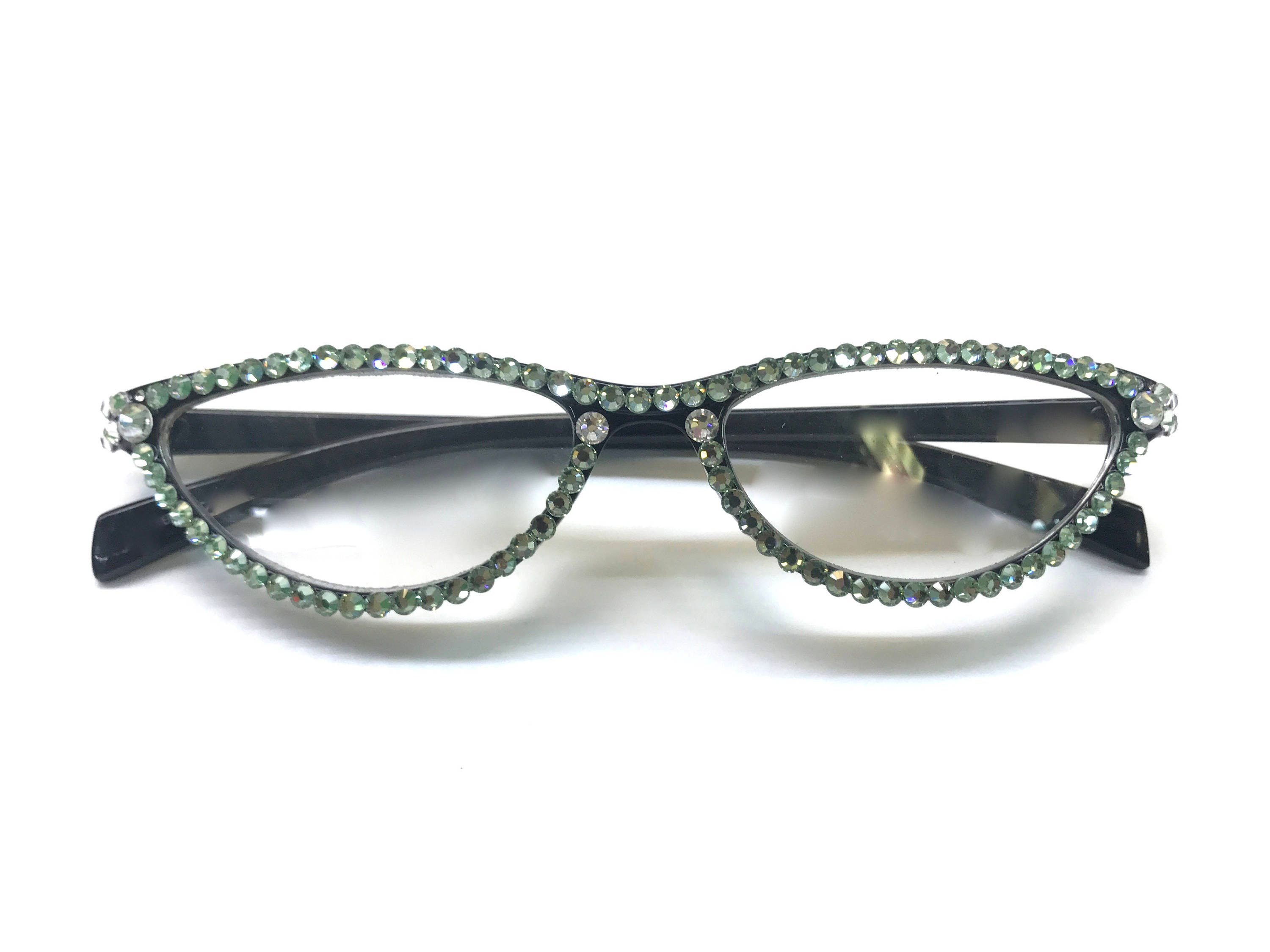 Small Frame Reading glasses made with Swarovski Crystals