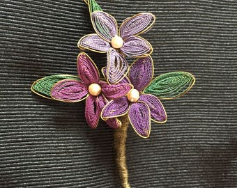 Floral Brooch, Flower Brooch, Colorful Flower Brooch, Handmade Brooch