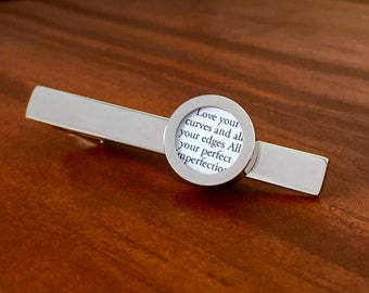 First Year Anniversary Gift / First Anniversary Paper / 1st Anniversary Gift for Husband / CUSTOM Tie Clip with Your Wedding Song Lyrics