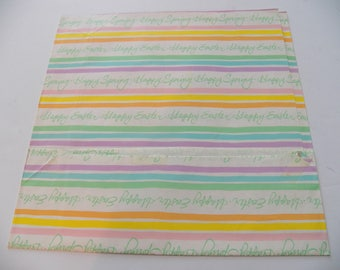 Easter gift wrap etsy vintage wrapping paper easter gift wrap one sheet 11x29 inches used striped gift negle Image collections