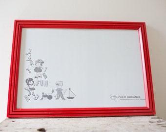 Vintage Dry Erase Board - Red Vintage Childrens Game Doodle Board Etch a Sketch