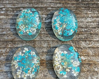 18x25mm Dried Floral Cabochons